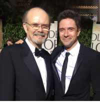 <p>Eric and Red Forman at the golden globes.</p>: <p>Eric and Red Forman at the golden globes.</p>